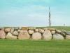 Mächtige Steinmauer auf der Bahn 14