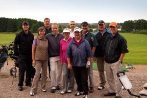 10 der 15 Teilnehmer beim Sunset Golf in Serrahn