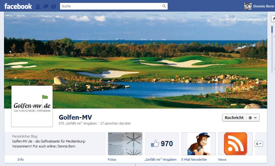 Facebook Chronik Golfen-MV