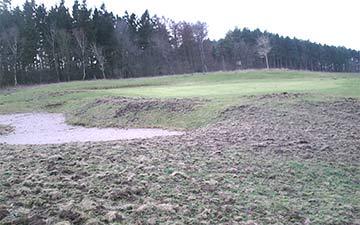 Golfplatzschäden im Golfclub Rügen