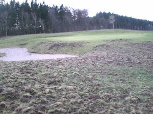 Schäden am Golfplatz im Golfclub Rügen