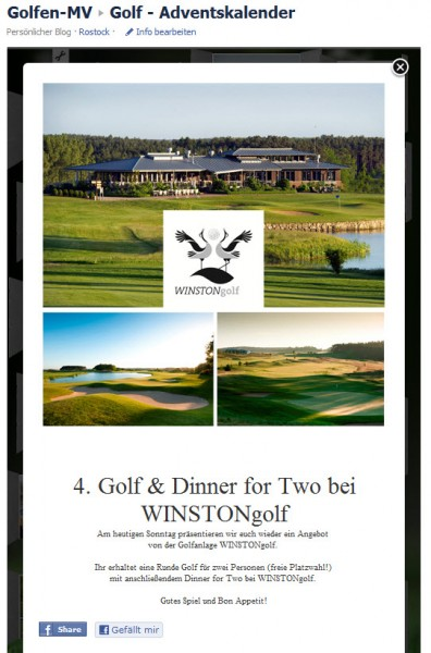 WINSTONgolf-Adventskalender
