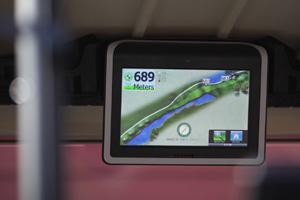 E-Cart - Touchscreen-Display per 3-D-Flyovers