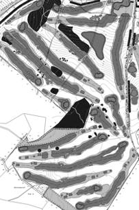 Entwurf eines Golfplatzes