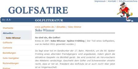 Golfsatire SOKO Wismar