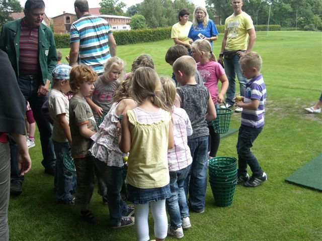 Kinder-Golftraining im Golfclub Schloss Teschow