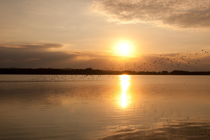 Sonnenuntergang am Teterower See